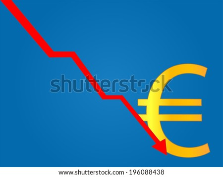 Currency Crisis Euro - stock photo