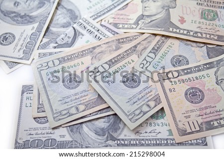 Currency dollar bond each, $ 100, $ 50, $ 20, $ 10, $ 5 and $ 1.