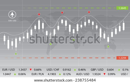 currency exchange, chart, market, forex, stock, money - stock photo