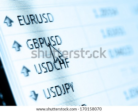 Currency exchange rate for forex market - stock photo