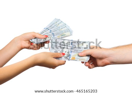 Currency, Giving, Human Hand.
