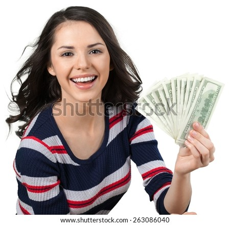 Currency. I'm In the Money - stock photo