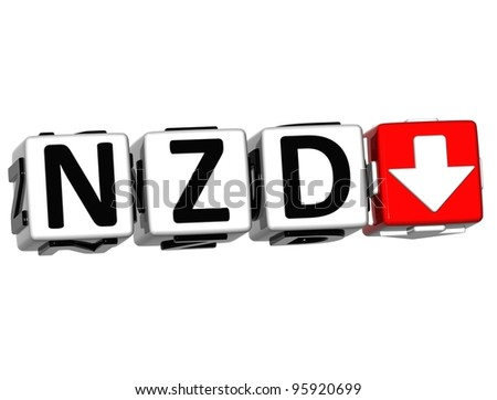 Currency NZD rate concept symbol button on white background