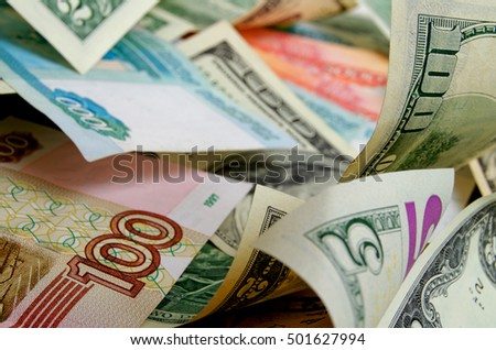 Currency speculation on the ruble-dollar exchange.
