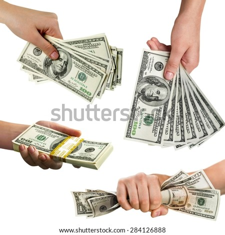 Currency, Wealth, Paper Currency. - stock photo