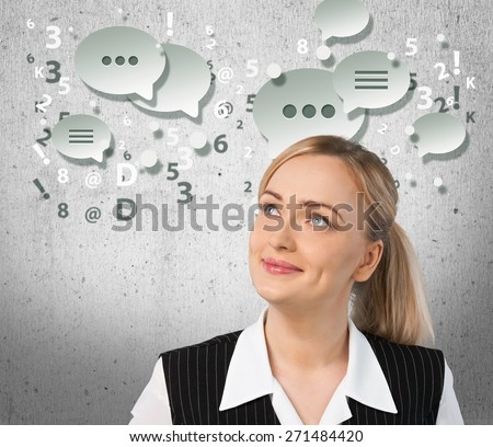 Currency, Women, Banking. - stock photo