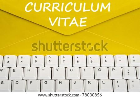 Curriculum Vitae message on envelope - stock photo