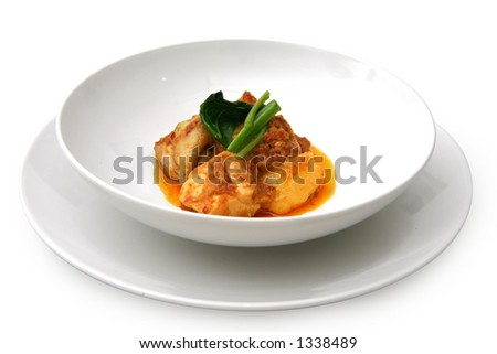 Curry chicken dish - stock photo