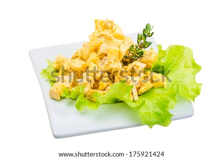 Curry chicken salad - stock photo