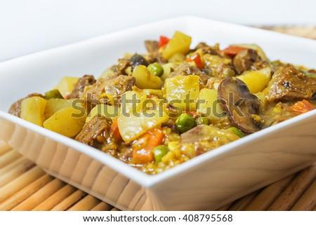 Curry dish - stock photo