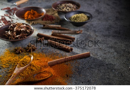 Curry ingredient - stock photo