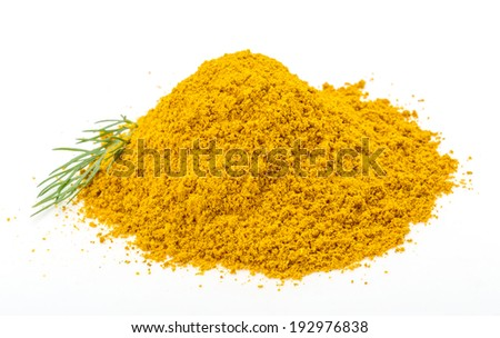 Curry powder with dill isolated