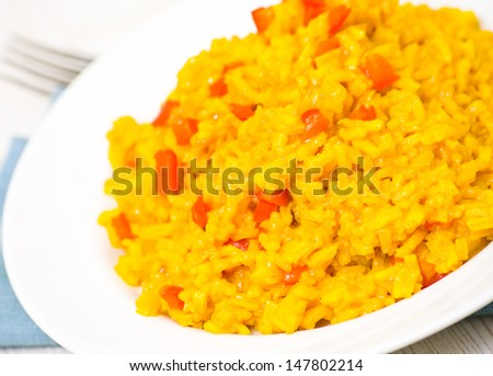 curry rice - stock photo
