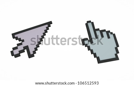 cursors isolated on white background