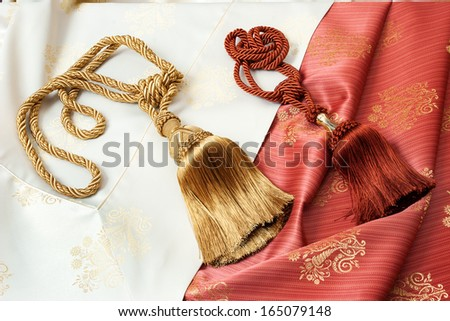 Curtain cords  - stock photo