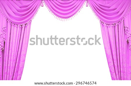 Curtain hanging on a window - stock photo