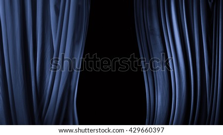 curtain in a theater of blue