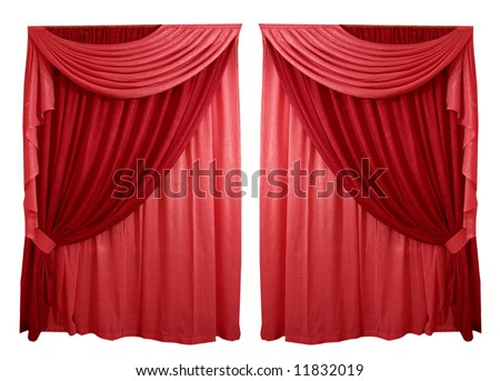 Curtain on a white background