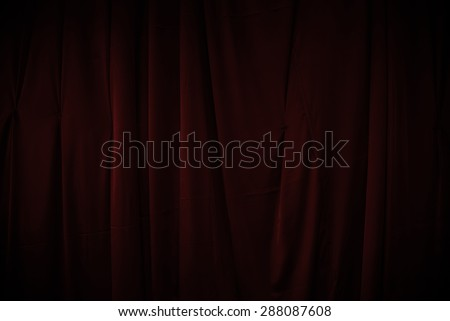 curtain or drapes dark red background - stock photo