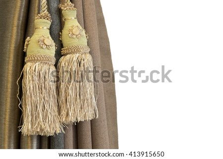 curtain with a copy-space - stock photo