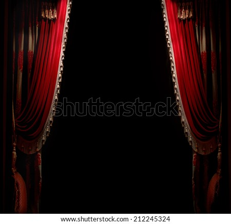 Curtain with space for copy - stock photo