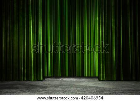 Curtain With Wood Floor