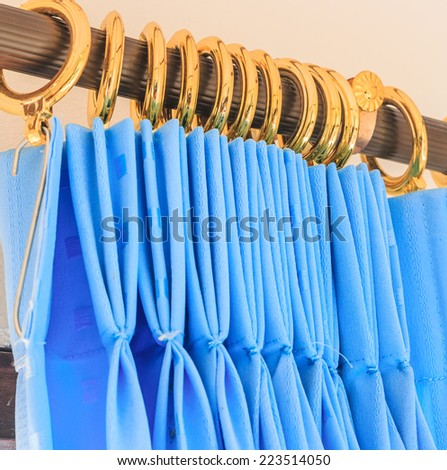 curtains background - stock photo