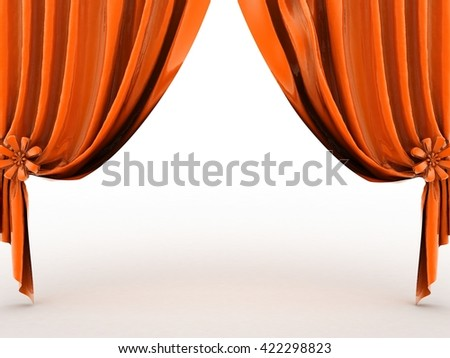 curtains 3D rendering