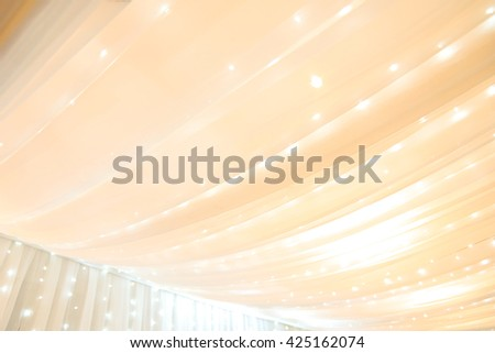 Curtains for interior decoration. abstract background - warm tone - stock photo