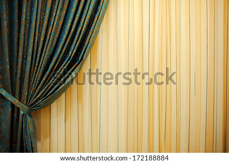 curtains on the window - stock photo