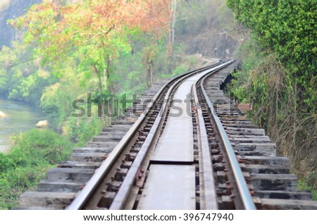 Curvature of the tracks