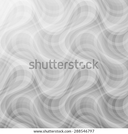 curve black white pattern with smoke on grey background. raster illustration