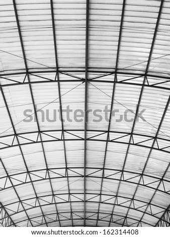 curve bright roof - stock photo