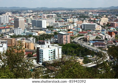 Curve highway in Pattaya - stock photo