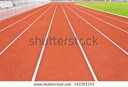 curve of running track lines