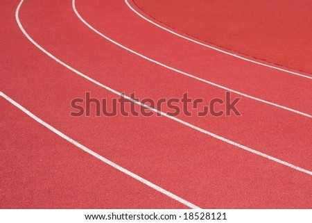 Curve of the running track