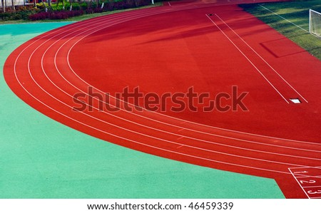 Curve on a running track.