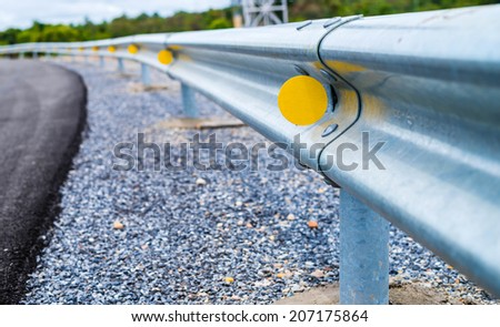 Curve road sign - stock photo