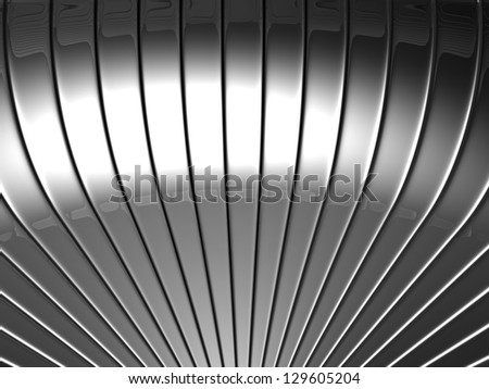 Curve silver stripe abstract background 3d illustration