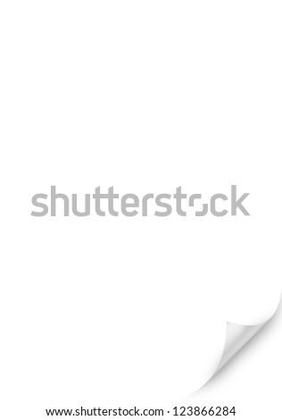 Curved Corner paper - stock photo