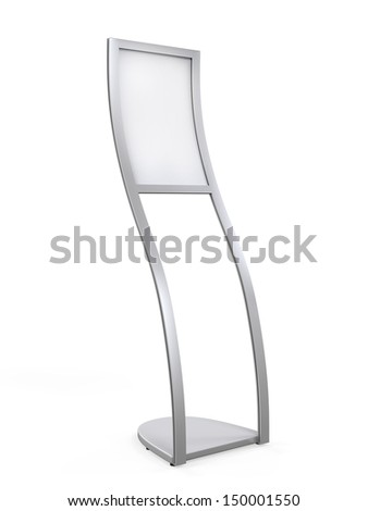 Curved Display Advertising Stand - stock photo