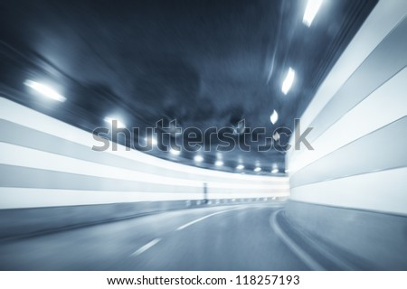 curved tunnel background with dynamic