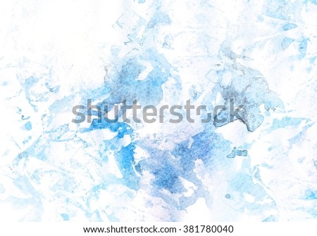 Curves bright . Ink marble texture. watercolor texture. bright blue - stock photo