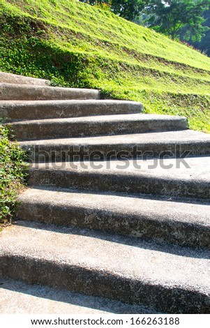 Curving Cement Stairway - stock photo