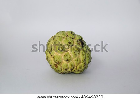 custard apple on a white background