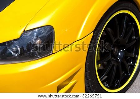 Custom Car closeup view - stock photo