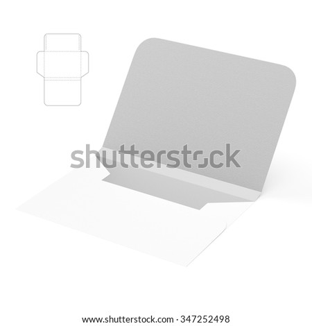 Custom Empty Envelope with Die Cut Template