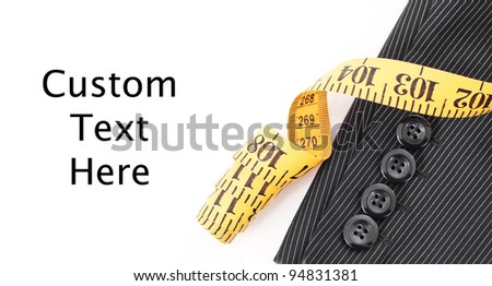 Custom Fitting Your Suit - stock photo