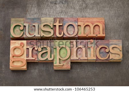 custom graphics  - text in vintage letterpress wood type on a grunge metal background