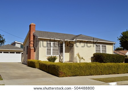 Custom made houses and estates in the suburbs of Los Angeles. California.